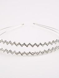 abordables -laiton cristal imitation perle strass diadèmes coiffe style élégant