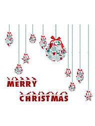 cheap -Window Sticker Window Decals Style Christmas Gifts Matte PVC Window Sticker - (60 x 58)cm