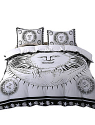 BeddingOutlet Sun God Bedding Set Moon God Black and White Comforter Cover Cozy Twin Full Queen King