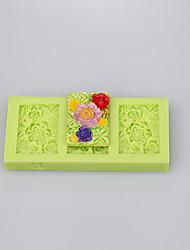baratos -forma quadrada lindo molde de silicone muffin pan sabão de bolachas de bolachas decoração conjunto cor ramdon
