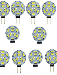 cheap -10pcs 1.5W 150-200 lm G4 LED Bi-pin Lights T 9 leds SMD 5730 Decorative Warm White Cold White DC 12V