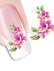 flores sedutora unhas transferências arte adesivos DIY água decalques nail art etiqueta ponta manicure decalque