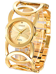 cheap -Women's Quartz Bracelet Watch / Casual Watch Stainless Steel Band Elegant Fashion Bangle Silver Gold