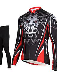 Недорогие -TASDAN Муж. Длинный рукав Велокофты и лосины - Черный Велоспорт Велоспорт Колготки Джерси Брюки Наборы одежды, 3D-панель,