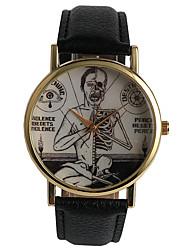 baratos -Homens Relógio de Pulso Venda imperdível / / PU Banda Casual / Fashion Preta