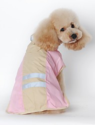 cheap -Cat Dog Rain Coat Dog Clothes Solid Colored Blue Pink Terylene Costume For Pets Men's Women's Waterproof