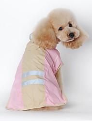 abordables -Gato Perro Impermeable Ropa para Perro A Prueba de Agua Sólido Azul Rosa Disfraz Para mascotas