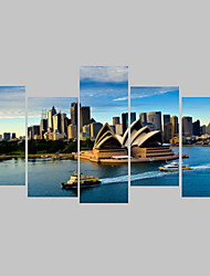cheap -Framed Printed Sydney Opera House Picture Painting Wall Art Room Decor Print Poster Picture Canvas
