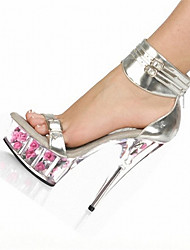 15CM Rose crystal shoes  Summer / Fall Heels / Platform / Sandals  Wedding / Party & Evening / Casual Stiletto Heel /
