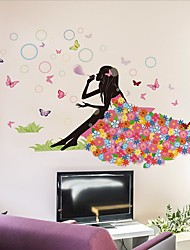 Elf Butterfly Flower Girl Bedroom Bedside Sofa Background