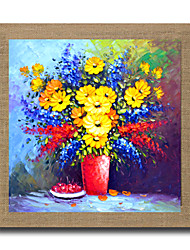 cheap -High Skills Artist Hand-painted Flower Oil Painting On Linen With Frame Abstract Painting For Office Decoration