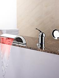 abordables -Grifo de bañera - Moderno Cromo Bañera romana Válvula Cerámica