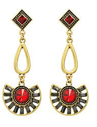 Geometrisk form Store øreringe Smykker Dame Mode Fest Daglig Afslappet Legering 1 par Rød