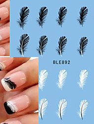 1 Nail Art Sticker Decalques de transferência de água maquiagem Cosméticos Prego Design Arte