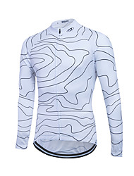 cheap -Fastcute Cycling Jersey Men's Women's Unisex Long Sleeves Bike Jersey Sweatshirt Top Quick Dry Front Zipper Breathable Soft YKK Zipper