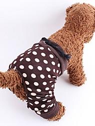 Cani Pantalone Abbigliamento per cani Estate Primavera/Autunno A pois Di tendenza Marrone Bianco/Nero