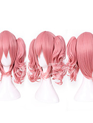 cheap -Costume Wigs / Synthetic Wig Straight With Ponytail Pink Women's Capless Cosplay Wig Synthetic Hair