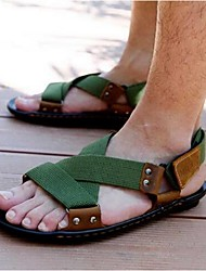 cheap -Men's Shoes Nylon Canvas Summer Sandals for Casual Black Green