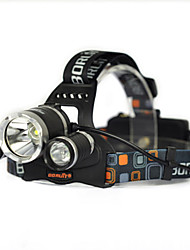 cheap -1000LM 3x XML T6 White 2R2 UV LED Headlamp Head Light Torch Charger Bare machine
