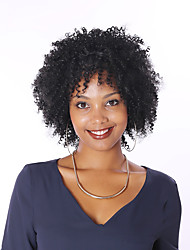 cheap -Kinky Curly Wig Full Lace Human Hair Wigs For Black Women 8A Short Bob Peruvian Human Hair Wigs