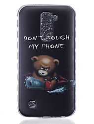 cheap -TPU Material Bear Pattern Painted Slip Phone Case for LG K10/K8/K7/K5/K4/G5/G4/G3