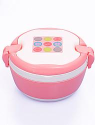 Недорогие -1шт случайный цвет посуда зрачков взрослых жаропрочные высокого качества большой емкости из нержавеющей стали бенто коробка