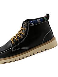 Недорогие --Унисекс-Повседневный-Полиуретан-На плоской подошве-Удобная обувь-Ботинки