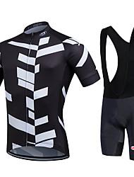 Fastcute Fahrradtrikot mit Trägerhosen Herrn Kurzarm Fahhrad Bib - Shorts/Kurze radhose MIT Trägern Shorts/Laufshorts Hemd Sweatshirt