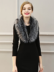 cheap -Women Fashion Faux Fur Solid Warm Scarf Party / Work / Casual