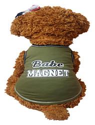 cheap -Holdhoney Dog Vest Dark Green/Light Green Dog Clothes Summer Letter & Number Fashion #LT15050280