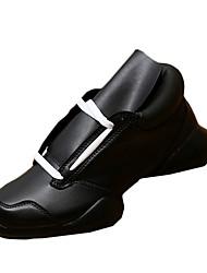 Masculino-Tênis-Conforto Sapatos clube Light Up Shoes-Rasteiro-Preto Preto e Branco-Tecido-Casual