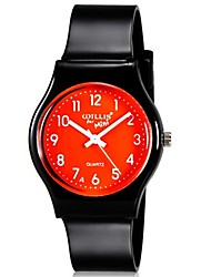 cheap -Quartz Wrist Watch Colorful Plastic Band Candy color Casual Fashion Cool Black