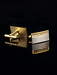 cheap -Golden Cufflinks Copper / Rhinestone Gift Boxes & Bags / Fashion Men's Costume Jewelry For Wedding / Party / Daily / Solid Colored