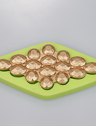 Hot new design Gem diamond jewelry decoration cake chocolate fondant mold Color Random