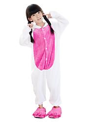 Kigurumi plišana pidžama Unicorn Onesie pidžama Kostim Flanel Flis Plava Cosplay Za Dijete Zivotinja Odjeća Za Apavanje Crtani film Noć