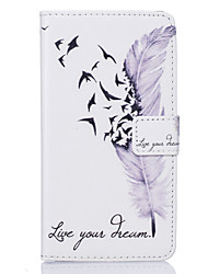 cheap -Case For Sony Xperia Z5 / Other / Sony Xperia Z5 / Xperia X / Sony Case Card Holder / Wallet / with Stand Full Body Cases Feathers Hard