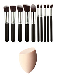 cheap -10 Makeup Brushes Set Synthetic Hair Professional And Makeup Sponge(Get Water Can Become Bigger)