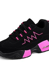 Sneakers-Kanvas TylDame-Rosa Rød Hvid-Udendørs Fritid-Platå Creepers