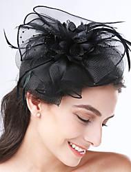 Women's Feather / Net Headpiece-Wedding / Special Occasion / Casual Headbands 1 Piece
