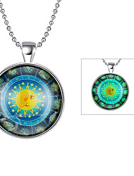 cheap -Cremation Jewelry Magical Glow in The Dark 925 Sterling Silver Luminous Simple Pendant Necklace