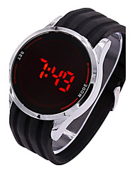 cheap -Men's Digital Watch Sport Watch Digital Touch Screen LED Silicone Band Charm Black