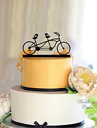 Недорогие -Украшения для торта Классика Классическая пара Акрил Свадьба с Цветы 1 Подарочная коробка
