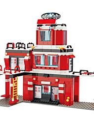 Blocs de Construction Pour cadeau Blocs de Construction Maquette & Jeu de Construction Automatique / Maison Plastique Au-dessus de 6Rouge