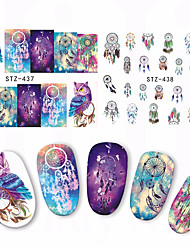 Watermark Stickers Owl Dreamer Style Cartoon Campanula Nail Polish Applique