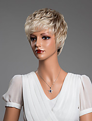 schöne natürliche lockige kurze menschliches Haar capless Perücken Sekundärfarbe 10 inchs
