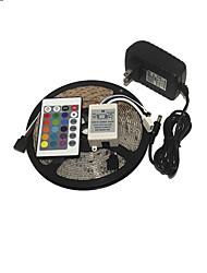 KWB 3528 luce di striscia di rgb 300leds 24key IR alimentazione telecomando perfetto per tutti i tipi di stili di decorazione