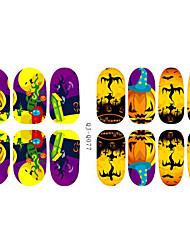 14Pcs/Sheet Sanat Sticker Nail 3D Tırnak Çıkartması Karton / Sevimli Makyaj Kozmetik Sanat Tasarım Nail