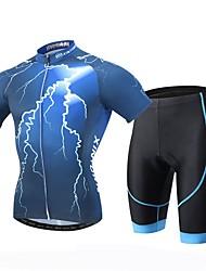 economico -XINTOWN Maglia con pantaloncini da ciclismo Per uomo Manica corta Bicicletta Maglietta/Maglia Pantaloncini /Cosciali Set di vestiti
