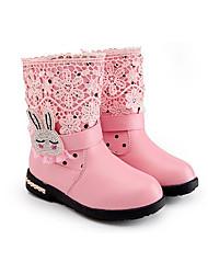 Støvler-SyntetiskPiger-Rosa Rød-Fritid-Flad hæl