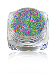 cheap -1g Mixed Color Nail Sugar Powder Nail Art Dust Tips Nail Decorations Dazzling Manicure Craft #523-532